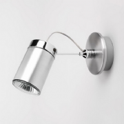 Montana Single Spot Light in Brushed Aluminium and Polished Chrome - astro 1259001 (6008)